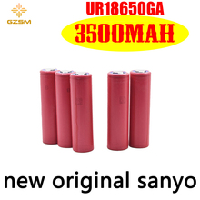 GZSM 18650 battery for Sanyo UR18650GA rechargeable 3500mAh 3.7V 10A For powerbank