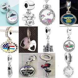 NEW 100% 925 Sterling Silver Summer Charming Beach Pendant Charm Fit Diy Women Europe Bracelet Original Fashion Jewelry Gift