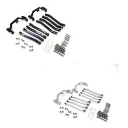 Металлическое шасси, Тяговые стержни, Тяговая тяга, подвеска, крепление для MN D90 D91 D99 MN90 MN99S 1/12, детали для модификации радиоуправляемых автом...
