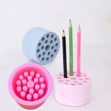 Diy Творческий Брикета Сота подставка для ручек хранения силиконовые