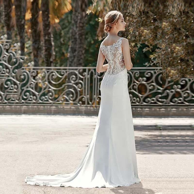 Eightree Princesa Do Vestido de Casamento Da Sereia Trumpet Querida Neck Cut Out Vestido de Noiva 2019 Apliques de Renda Robe de soirée - 2