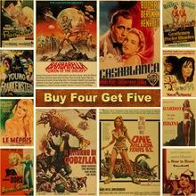 Art-Painting Posters Kraft-Paper Wall-Decor Room-Bar Classic Prints Vintage Movie