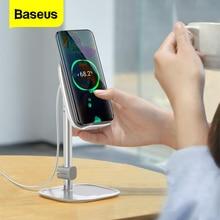Baseus Qi Wireless Charger Adjustable Desk Phone Holder 15W Fast Wireless Charging Tablet Holder For iPhone iPad Samsung Xiaomi