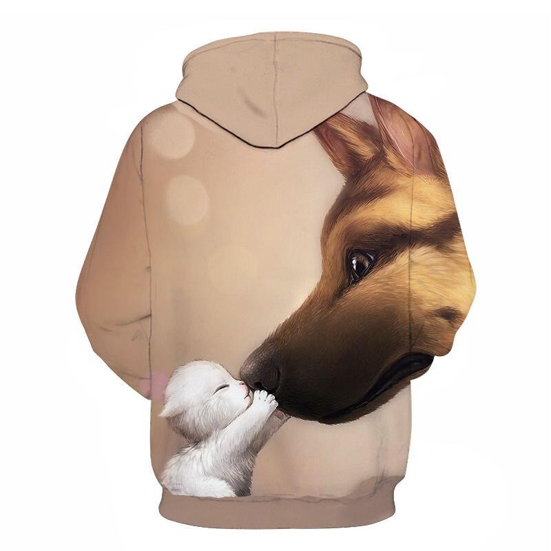Women's Two Cat Sweatshirts Long Sleeve 3D Hoodies Sweatshirt Pullover Tops Blouse Pullover Hoodie Poleron mujer Confidante Tops 62