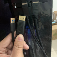 החלפת 1M מורחב DP צוהר קרע S VR משקפיים DP USB תצוגת קו הארכת עופרת כבל אביזרים