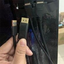Zamiennik 1M rozszerzony kabel DP do okularów Oculus Rift S VR DP przedłużacz linii wyświetlacza USB akcesoria kablowe