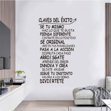 Escultura em vinil mural frase chave sucesso adesivo de parede casa decalque arte sala estar cartaz casa moda pintura decorativa SP-032