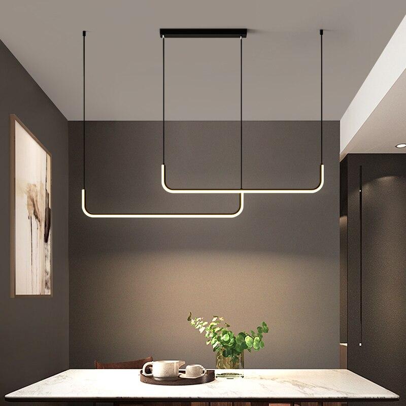 Minimalismo moderno led lustre nordic sala de estar e quarto cozinha restaurante pendurado lâmpada decoração para casa luminária
