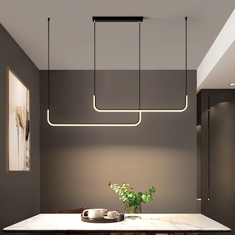 Modern LED Ceiling Chandeliers with Remote Control Living Room Table Dining Kitchen Fixture Hanging Pendant Home Decor Lighting