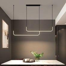 Modern Minimalism LED Chandelier Nordic Living Room and Bedroom Kitchen Restaurant Fixture Pendant Lamp Home Decoration Lighting