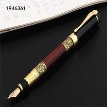 Ручка перьевая чернильная с золотистой резьбой, 530