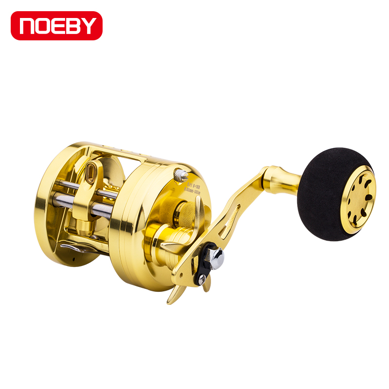 NOEBY Gold Metal Bait Casting Fishing Reel Boat Lure Right Fishing Reel Saltwater(China)