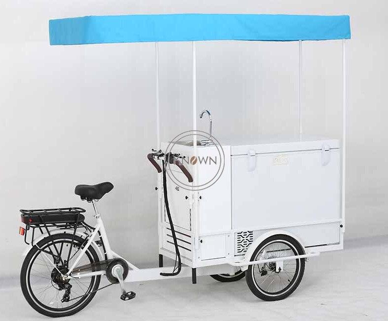 2019 High Quality Fashion Food Bike Refrigerator Food Cart Outdoor Street Food Cart Bike