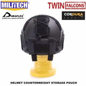 Image 3 - Militech twinfalcons twヘルメットカウンターウェイトバッテリー収納ポーチ収納ポーチ戦術的な軍事nvg重量カウンターポーチバッグ