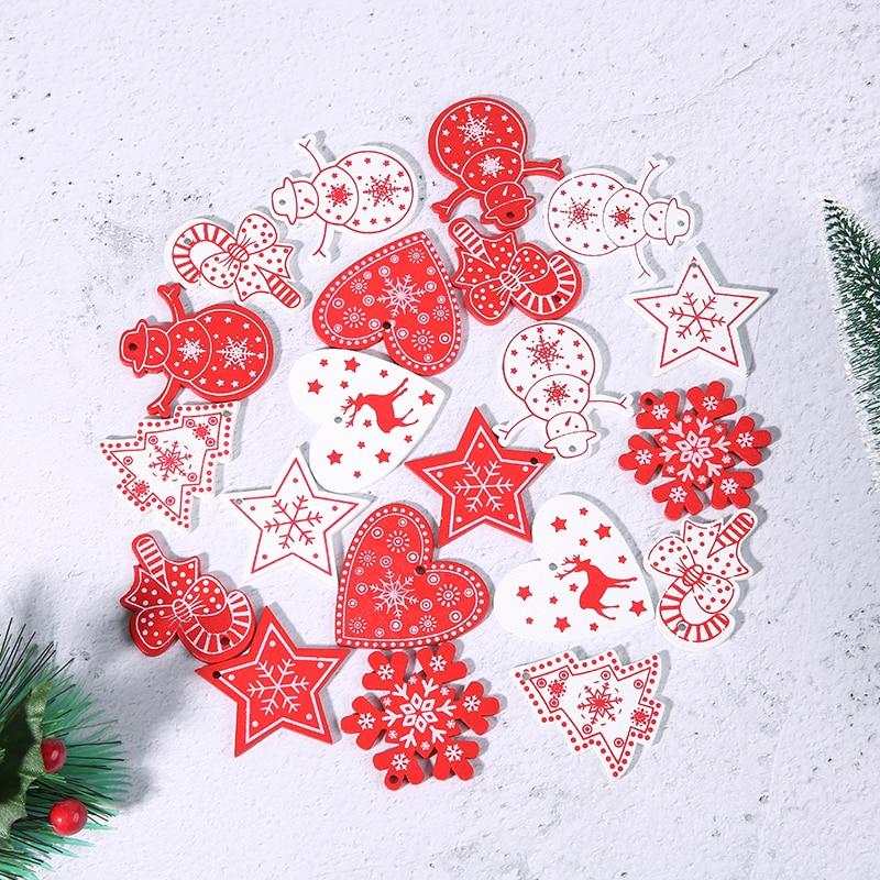 10 шт./лот искусственная деревянная снежинка на новый год натуральное дерево Рождественские подвесные фотообои Декор