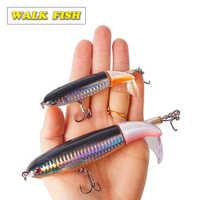 Walk Fish 1Pcs Whopper Popper 13g 35g Topwater Fishing Lure Artificial Fishing Baits 8 colors for choose