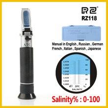 RZ рефрактометр морской солености метр концентрации соленой воды аквариума ручной марикулярный разведение гравиметр RZ118 0~ 10