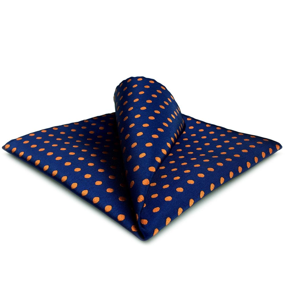 UH5 Navy Dots Mens Pocket Square Fashion Hanky Handkerchief