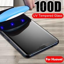 Lamorniea 100D UV Full Glue Sceen Protector For Huawei Honor 8X 9X 10 P10 Lite U