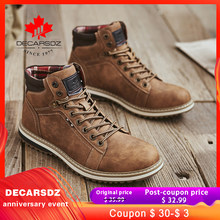 Mannen Laarzen Voor Mannen 2019 Nieuwe Herfst & Winter Laarzen mannen Schoenen Mode Enkellaarsjes Westerse Booties Lace -Up Duurzaam Basic Laarzen(China)
