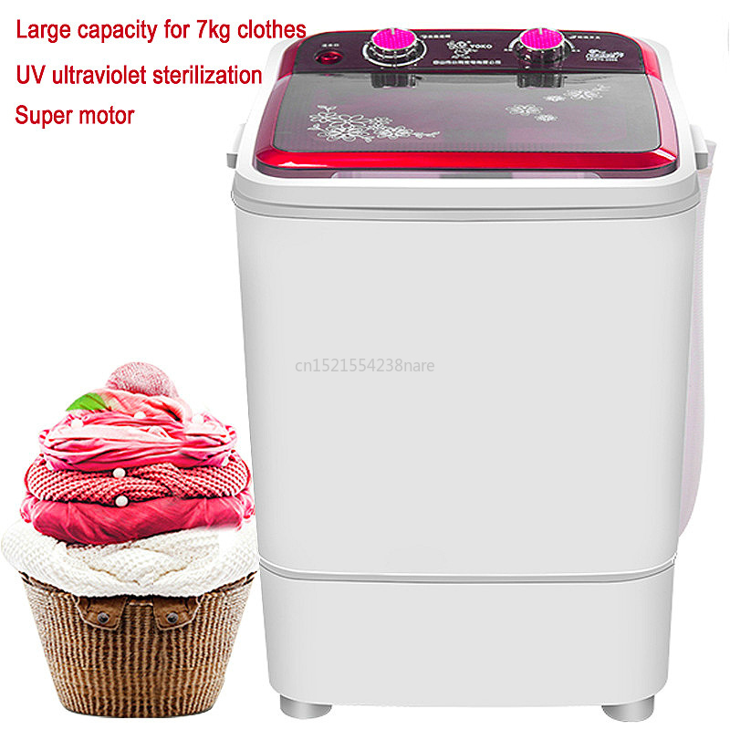 22%,Electric Clothes Washing Machine For Baby Single Tub Semi-automatic Washer ABS Stainless Steel Big Capacity