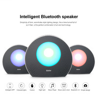 Portable Bluetooth Speaker APP Smart Emotion Colorful LED Lamp Stereo Column LED Wireless Music Box FM Radio TF Card #B