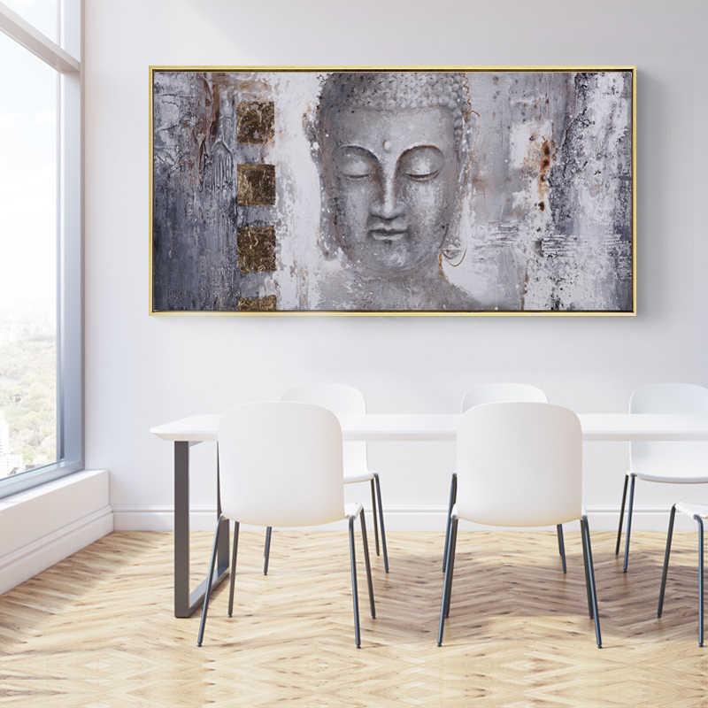 Poster Leinwand Kunst Buddha Gemälde Wand Kunst Bilder Für Wohnzimmer Moderne Kunstdruck Große Größe Dekorative Bilder Kein rahmen