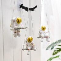 Figuras de astronauta nórdico para niños, adornos de personajes en miniatura, estatuas modernas para decoración del hogar, accesorios de habitación, decoración de pared