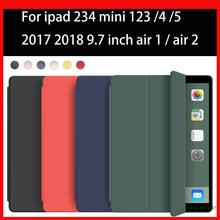 Dla iPad Mini 1 2 3 4 5 Case dla iPad air 1 2 2017 5th 2018 6th gen 9 7 cala pokrywa dla iPad 3 4 Case stand Auto Sleep Wake Funda tanie tanio EGYAL Osłona skóra 7 9 CN (pochodzenie) A2133 A2124 A2125 A2126 Stałe 5 3inch Dla apple ipad IPad mini 5 Moda Odporny na wstrząsy