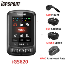 IGPSPORT IGS620 Bike Wireless Notification Phone Speedometer ANT+ Bicycle Computer Bluetooth4.0 WIFI GPS Waterproof Accessories