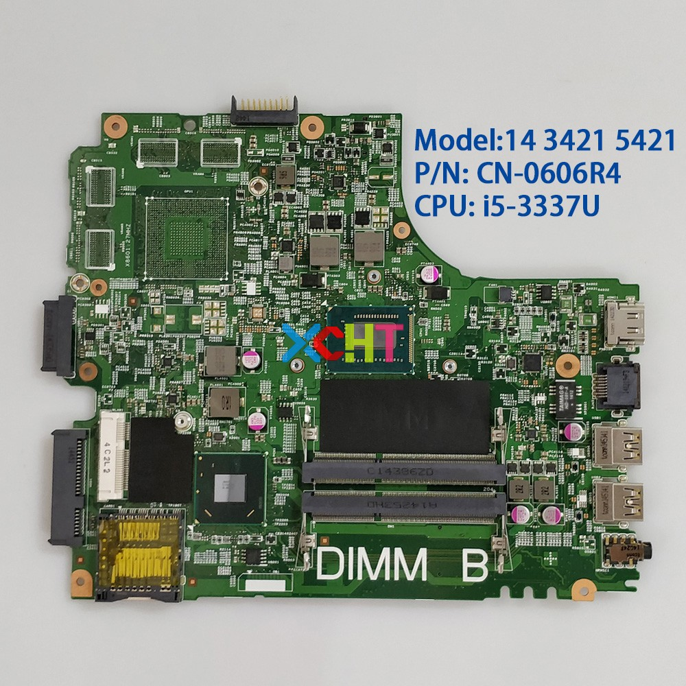 CN-0606R4 0606R4 606R4 12204-1 DNE40-CR w <font><b>I5</b></font>-3337U CPU SLJ8E for <font><b>Dell</b></font> Inspiron 14 <font><b>3421</b></font> 5421 NoteBook PC Laptop Motherboard image