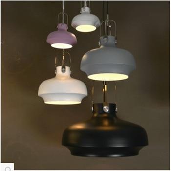 New American Industrial Loft Vintage Pendant Lights Black White Iron Edison Glass Retro Loft Vintage Pendant Lights Lamp deco