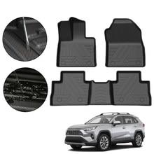 For Toyota RAV4 2019 2020 5-Seat TPE Car Floor Mats Waterproof Non-Slip Auto Styling Accessories Interior