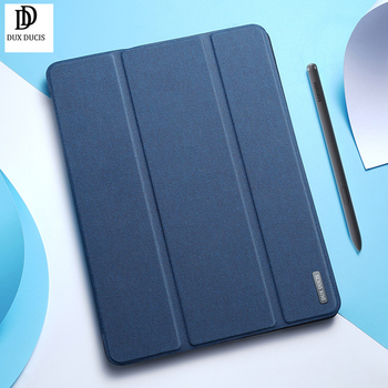 Funda For Samsung Tab S6 Lite чехол Trifold Leather Flip Smart Sleep Tablet Sleeve + Pencil Holder Cover S7 S7+ Dux Ducis - discount item  42% OFF Tablet Accessories
