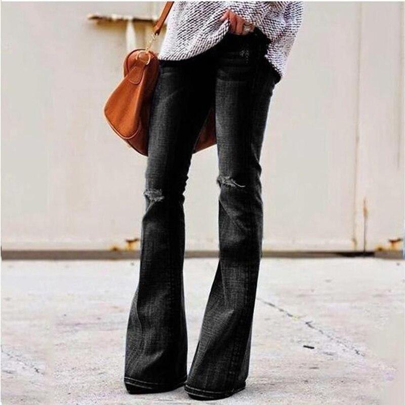 Jeans Casual Women's Trousers Women Jeans Plus Size Women's Flared Pants Explosion Models High Waist Jeans Women