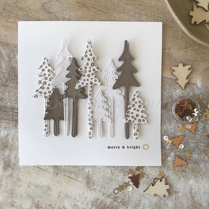 <font><b>2019</b></font> New <font><b>Christmas</b></font> Tree Metal <font><b>Cutting</b></font> <font><b>Dies</b></font> Stencil DIY Scrapbooking Album <font><b>Stamp</b></font> Paper Card Embossing Craft Decor Handicrafts image