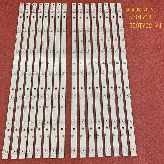 16Pcs LED BacklightสำหรับPanasonic TX 55DX600E TX 55DX600 TX 55DX600B 55DX650 TX 55DX650B TX 55DX630 55AX630B TX 55DS500B