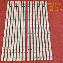 16pcs LED תאורה אחורית רצועת עבור Panasonic TX 55DX600E TX 55DX600 TX 55DX600B 55DX650 TX 55DX650B TX 55DX630 55AX630B TX 55DS500B