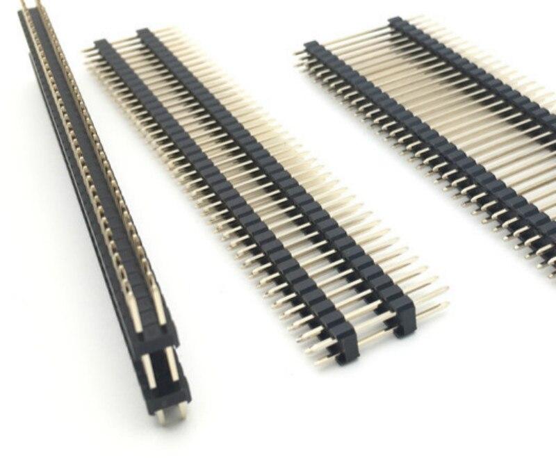 2.54mm 2*40p L20mm 25mm 30mm 40mm 2X40P Dual Row Double Plastic PCB Board Spacer Pin Header Connector Male Header Berg Strip