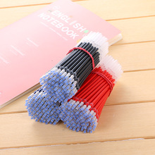 50pcs 2019 new 0.5mm needle head refill gel pen black red blue ink writing smooth