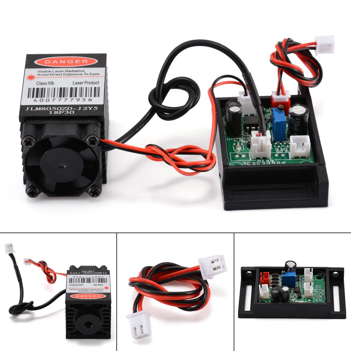 1pc 12V 500mW 808nm Multi-use Focusable Red Laser Module Infrared Laser Diode Dot Module & TTL Fan Cooling For Sweep Instrument