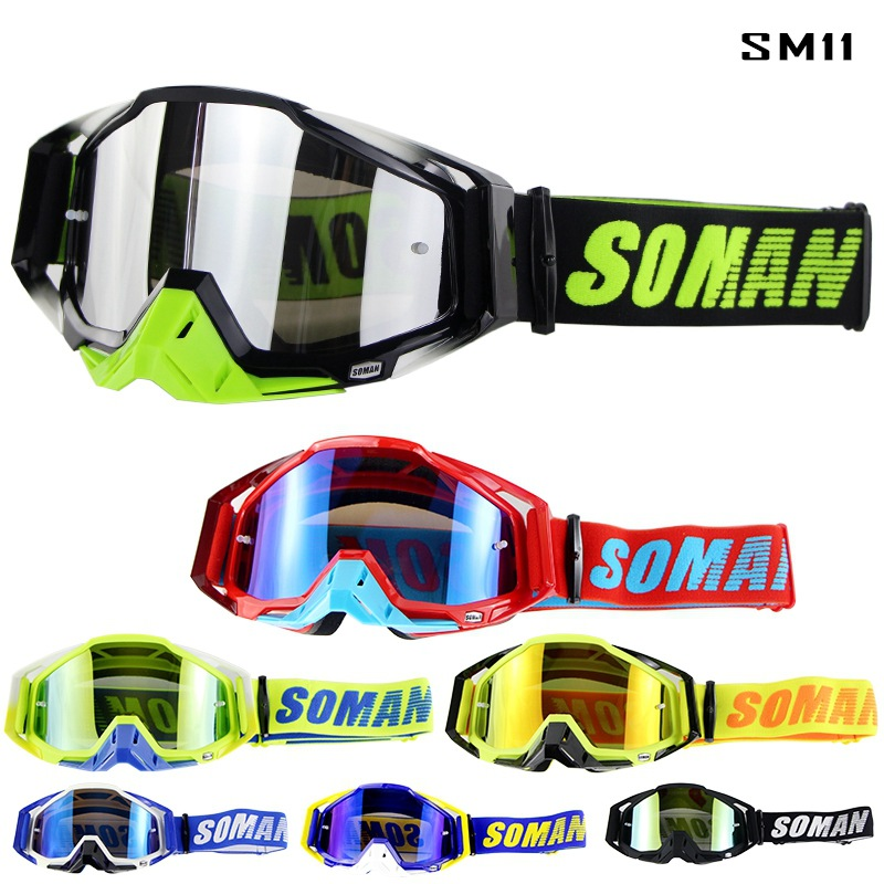 Hot Selling Speed Step Through Motorcycle Off-road Goggles Racecraft Wind-proof Glasses Soman SM11