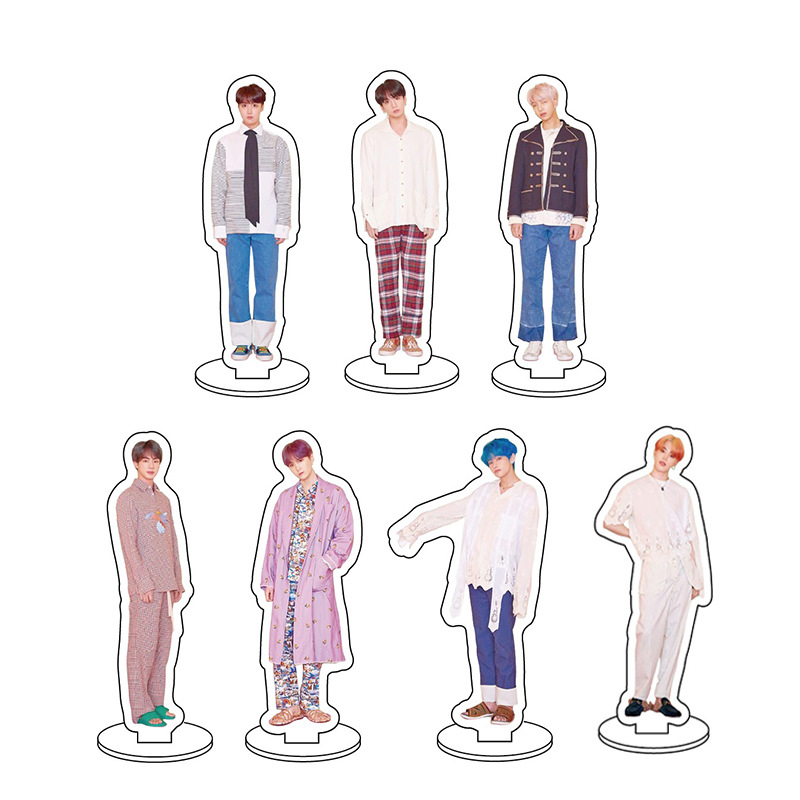 KPOP Bangtan Boy Group Acrylic Stand Figure Model For Fans Double-side Plate Holder Cake Topper Idol