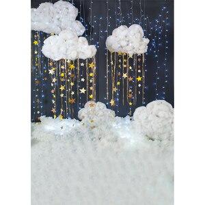 Image 4 - Funnytree foto pano de fundo fotografia estúdio noite estrelado céu estrelas nuvem chuveiro do bebê fundo photozone vinil floor photophone