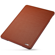 Luxury Business Genuine Leather Case for New iPad 9.7 2017 Simple Foldable Stand Smart Cover Apple