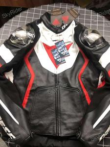 DAIN ESE Men's Motorcycle Racing  Jacket AVRO 4 Cowhide Genuine Leather Jacket Waterproof Lining