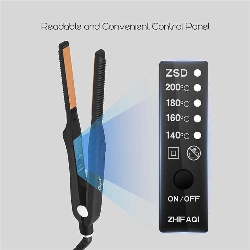 Small Flat Iron Chapinha Ultra-Thin Professional Hair Straightener Curler Ceramic Straightening Iron Fast Heating Styling Tool40