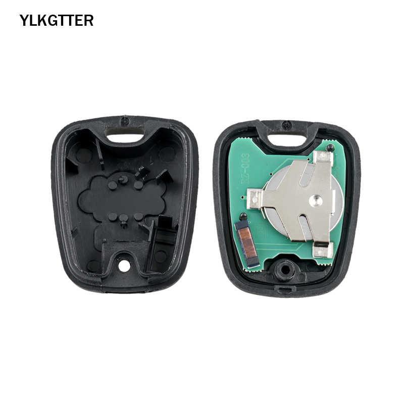YLKGTTER 433MHz 2 Botões Chave Remota Do Carro Para Peugeot 206 207 307 Parte Nmber 6554RH com ID46 (7961) chip para Peugeot Chave Terno