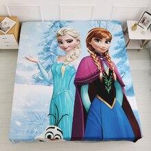 Mattress-Cover Bedsheet Princess Frozen Elsa for Kids Sofia Anna
