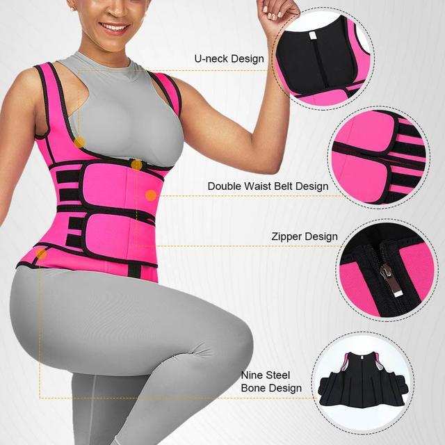Lover-Beauty Neoprene Sauna Shaper Waist Trainer Corset Sweat Slimming Belt Women Weight Loss Compression Trimmer Workout Vest 1